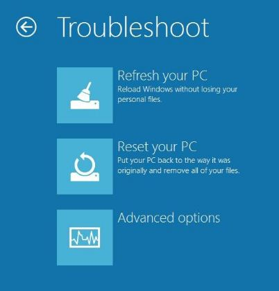 How to Refresh, Reset, or Restore your Windows 8 PC